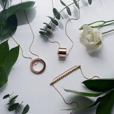 rose gold necklace womens images Rose gold necklace circle necklace statement necklaces mia jpg
