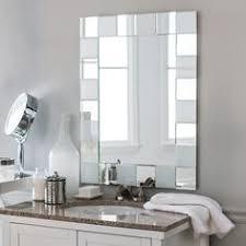 Decor Wonderland Mirrors Decor Wonderland Quebec Modern Bathroom Mirror Silver Size Large