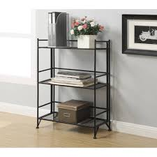 Bookcase Tv Stand Combo Convenience Concepts Designs2go Metal Folding 3 Shelf Wide