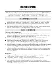 Sample Resume Information Technology Example Resume Medical Device Sales Augustais