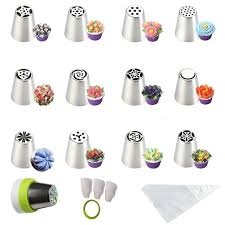 amazon com sasrl russian piping tips for cupcakes decoration 23