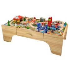 carousel train table set fantastic wooden toys and puzzles smyths toys uk