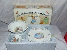 wedgwood rabbit nursery set vintage wedgwood etruria barlaston beatrix potter rabbit