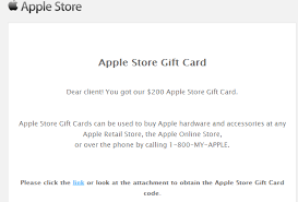 gift cards email apple store gift card scam bypasses phishing for all out malware
