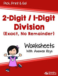 dividing 2 digit by 1 digit divisor division without remainders