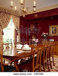 Antique Mahogany Dining Room Furniture Antique Mahogany Chairs And Table In Modern White Dining Room