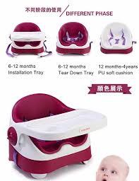 Toddler Feeding Table by Baby Portable Folding Chair Seat Children Pu Cushion Dining Table