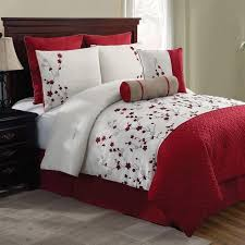New Bed Sets New Bed Bag King 5 Pc White Floral Comforter Pillows Set