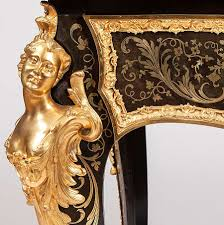 bureau boulle a bureau plat in the manner of andré charles boulle a