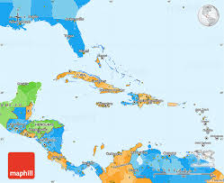 america map political political simple map of central america