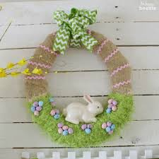 easter bunny wreath easter bunny in the grass wreath for our easter mantel the