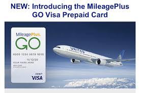 go prepaid card mileageplus go visa prepaid card earn united award on purchases