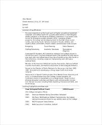 Coaching Resume Samples by Resume For Soccer Coach 1294