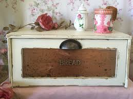 Rustic Kitchen Storage - breadbox bread box vintage wooden bread box mid century kitchen