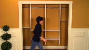 how to install a closet organizer youtube