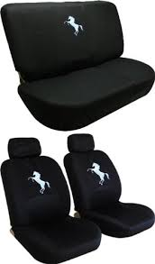 Auto Expressions Bench Seat Covers Front Low Back Seat Covers And Bench Black Seat Cover Set