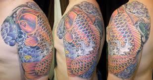 Koi Half Sleeve - 30 groovy half sleeve tattoos for slodive