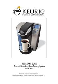 keurig b70 platinum manual keurig b70 platinum brewing system