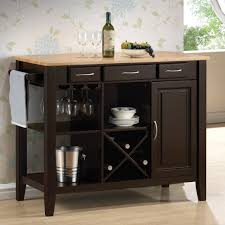 kitchen cart with stainless steel top home keurig station and