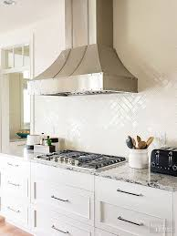 kitchens with subway tile backsplash glossy white kitchen backsplash tiles design ideas pertaining to