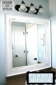 Frame A Bathroom Mirror With Molding Mirror Molding Unispa Club