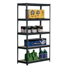 Heavy Duty Shelves by Amazon Com Sandusky Edsal Ur185p Blk Black Steel Heavy Duty 5