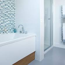 coastal themed bathroom coastal themed bathroom blue tiles ideal home coastal bathroom