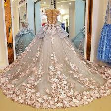 wedding dress garden party haute couture 3d floral exquisite wedding dresses sleeve