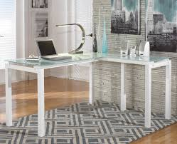ava glass display wood desk modern white desk glass top within frosted l shaped new furniture