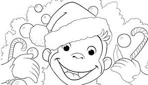 curious george christmas coloring pages printable sketch coloring