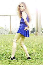 tuesday d urban planet gold leggings forever 21 electric blue