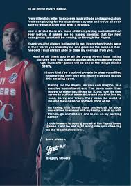 break up open letter streete to take time out from basketball career bristol flyers streete has given the club over a decade of dedicated and exceptional service after coming through the academy system at sgs college