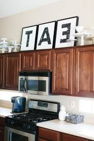 kitchen cabinet tops kitchens 1000 ideas about above cabinet decor on pinterest