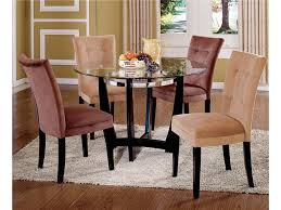 steve silver matinee glass top dining table u0026 parson side chair