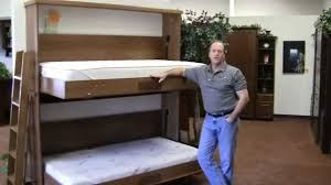 Free Bunk Bed Plans Twin Over Double by Bunk Bed Murphy Bed Wilding Wallbeds Youtube