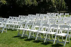 white wedding chairs plastic ceremony chairs weddingbee