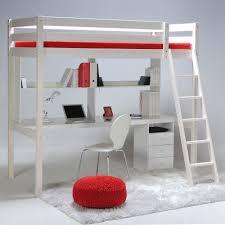 bureau en mezzanine lit mezzanine sapin 90x190cm sommier bureau et caisson