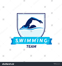 Swimming Logos Free by Vector Swimming Team Logo Swimmer Silhouette Stock Vector