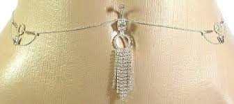 chain belly rings images Body accentz belly button ring navel rhinestone body jpg