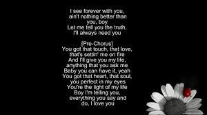 You Re The Light Of My Life Tamar Braxton U003dthe Makings Of You Lyrics Youtube