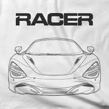 mclaren drawing mclaren 720s line art white short sleeve hanes beefy t u2013 the