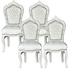 Esszimmer Set Ebay Esszimmerstühle Weiss Barockmöbel Antik Stil Sitzgruppe 4 Barock