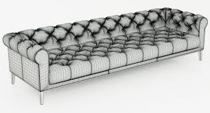 Leather Sofa Chesterfield by Restoration Hardware Italia Chesterfield Leather Sofa 3d Model Max