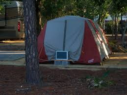air conditioned tent to install portable air conditioner at your c