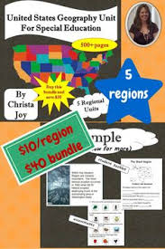 united states geography unit for special education special