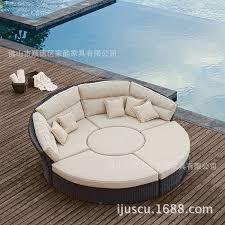 circular outdoor rattan sofa outdoor rattan sofa bed combination