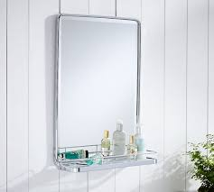Mirror With Shelves by Vintage Mirror With Tray Pottery Barn