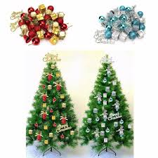 32pcs christmas ornaments balls drums baubles xmas tree pendant