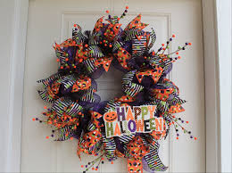 diy mesh happy halloween wreath the wreath depot