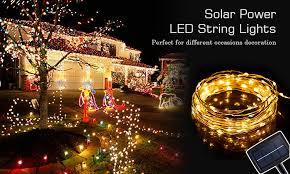 solar powered led fairy lights waterproof led string light led string light gf brand